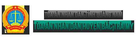 Trang thông tin điện tử Tòa án nhân dân huyện Bắc Trà My